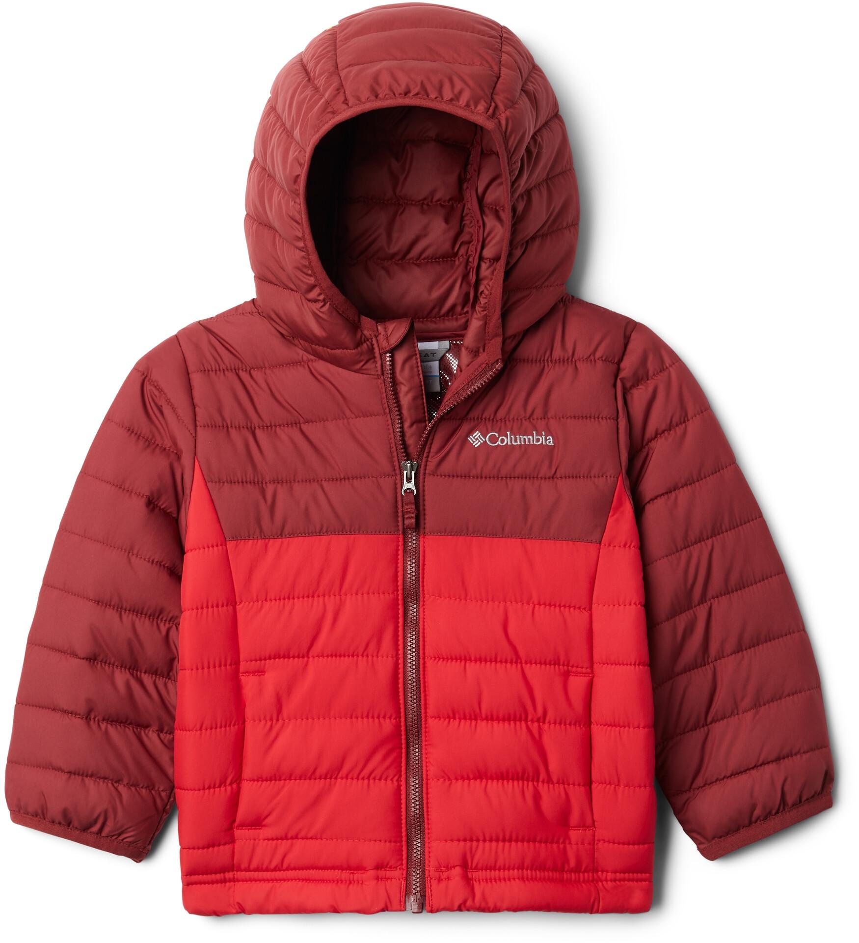 Columbia Powder Lite Kapuzenjacke Jungen mountain redred jasper